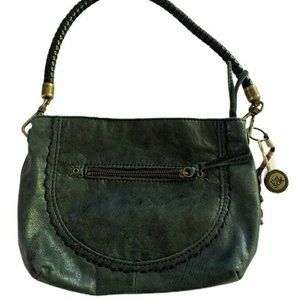 The Sak Womens Handbag Black Top Braided Handle
